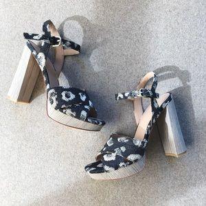 Pour La Victoire Leopard Sandal Heels
